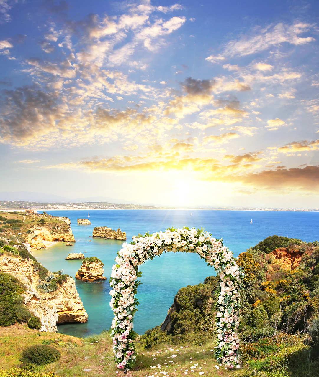 Algarve flower arch